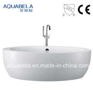 Wide Rim European Standard Acrylic Freestanding Bathtub pictures & photos