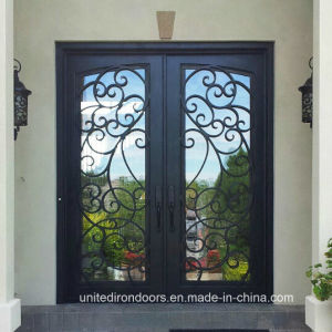 Hand Forged Square Top Wrought Iron Entry Door (UID-D024) pictures & photos