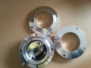 Sanitary Stainless Steel Manual Welded Three-Piece Butterfly Valve pictures & photos