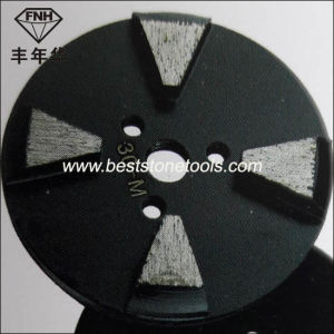 Metal Diamond Polishing Pad with 4 Segment Disc for Concrete