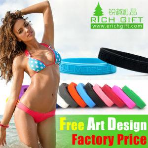 Cheap Custom Design Elastic Silicone Wristband for Men Bracelet pictures & photos