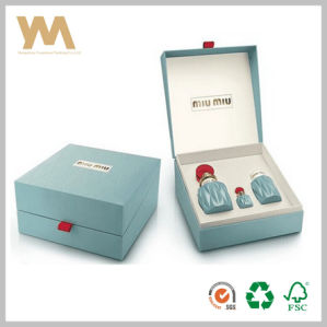 The Newest Light Blue Color Simple Packaging Gift Box for Perfume pictures & photos