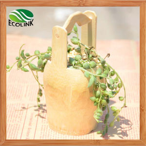Creative Bucket Style Bamboo Flower Pot pictures & photos