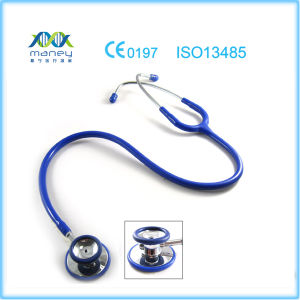 Deluxe Maney Medical Dual Head Stethoscope with Chrome Plated pictures & photos