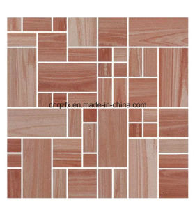 Terra Cotta Wood Look Blend Shade Mosaic