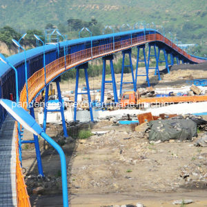 Overland Pipe Belt Conveyor Systems/ Pipe Conveyor Equipment/ Pipe Transporting Machinery
