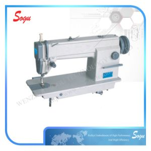 Single Needle Flatbed Lockstitch Industrial Leather Shoe Sewing Machine pictures & photos