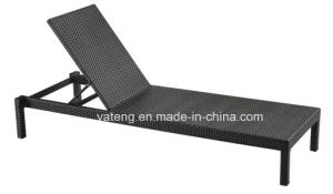 UV-Resistant PE-Rattan Folding Outdoor Beach Sun Lounger Chaise Lounger pictures & photos