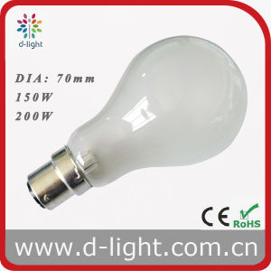 PS70 A70 B22 Frosted Incandescent Luminaire Bulb 150W 200W 220V pictures & photos
