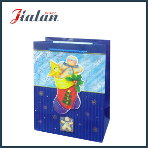 Customize 3D Christmas Stocking Ivory Paper Packing Gift Paper Bag pictures & photos