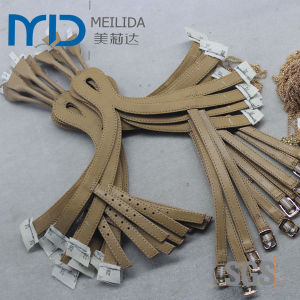 Fashion Leather Sandal Uppers with Straps and Decorative Diamond Trims pictures & photos