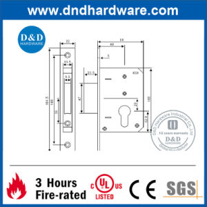 Door Accessories Black Lock for Europe with Ce Certificate (DDML033) pictures & photos