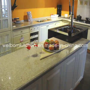 2016 Welbom America Style L Shape Wooden Kitchen Cabinet pictures & photos