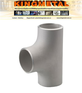 """A403 Wp309h Wp321/317, 4""""Hot Forming Butt-Welded Stainless Straight Tee pictures & photos"""