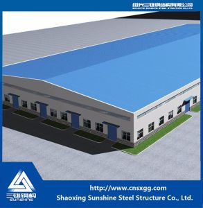 Welded Prefabricated Building with Building Material for Warehouse pictures & photos