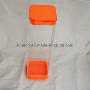 Packing Plastic Square Tube with Caps pictures & photos