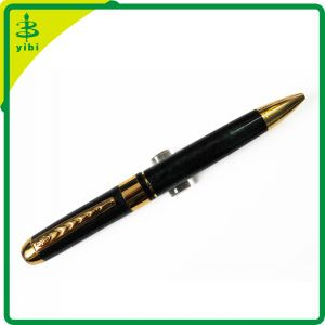 Luxury Elegant Balck Heavy Metal Ballpoint Pen with Clip for Business Gift (Hch-R118)