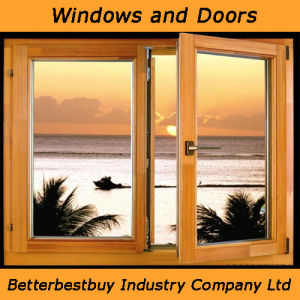 Double Glass Aluminum Chadding Wood Window pictures & photos