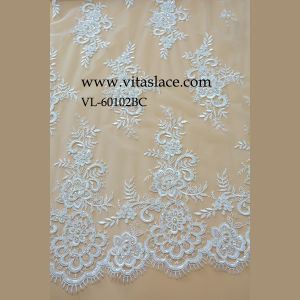Ivory Rayon Fabric for Wedding Dress Lace in Guangzhou Vl-60102bc pictures & photos