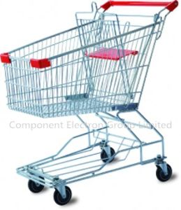 Wholesale Double Layer Shopping Trolley with High Quality pictures & photos