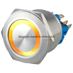 25mm Vandal Resistant Switch with Self Locking 1no1nc Ring LED Waterproof pictures & photos