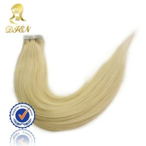 100% Unprocessed Natural Hair Skin Weft Straight Blond Hair Extensions