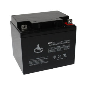 12V 38ah AGM Lead Acid Storage VRLA Rechargeable Mf Battery