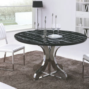 China Round Marble Top Stainless Steel Dining Table A337 China