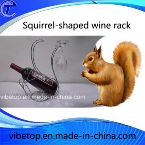Multifunctional Squirrel-Shaped Wine Rack Wholesale pictures & photos