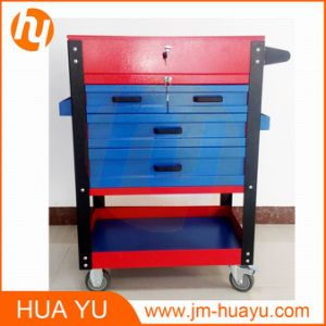 Powder Coated 4 Drawers Lockable Workbench Movable Garage Tool Cabinet pictures & photos