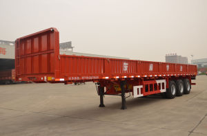 12m 3axles Flatbed Side Wall Semi-Trailer