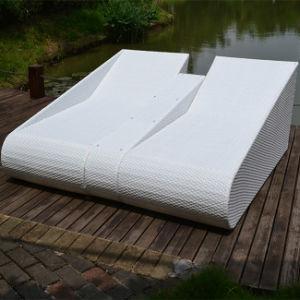 Leisure Garden PE Rattan Outdoor Furniture Double Sun Lounger