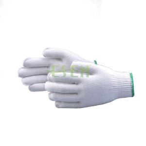 Industrial Safety Knitted White Cotton Hand Work Gloves for Wholesale Ship pictures & photos