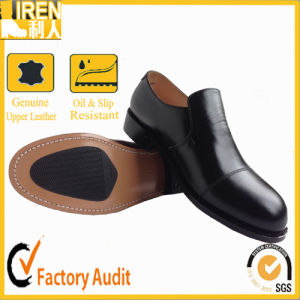 Black Military Police Office Cow Leather Shoes pictures & photos