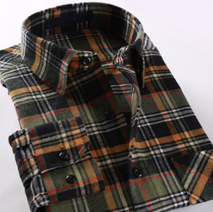 Men′s Fashion Plaid Checked Flannel Shirt pictures & photos