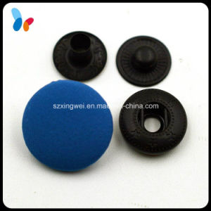 Blue Cotton Covered Metal Spring Snap Fastener pictures & photos