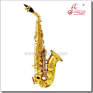 Bb Key Yellow Brass Gold Lacquer Jinbao Soprano Saxophone pictures & photos