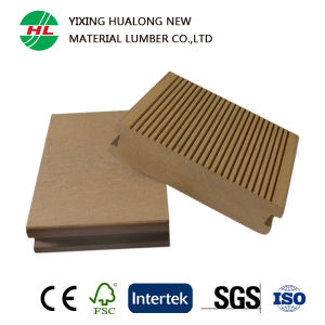 High Quality WPC Decking Floor with Grooves Stripes (HLM98) pictures & photos