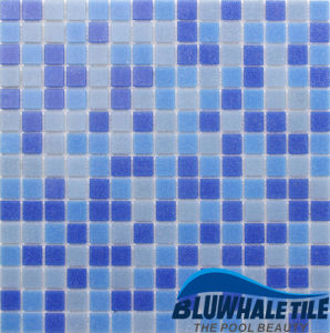 Square Thickness 4mm Square Dark Blue Glass Mosaic for SPA Design