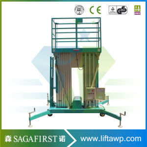 Dual Mast Two Post Aerial Work Platform Lift Table pictures & photos