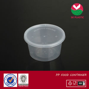 Round Plastic Food Container (sk-16 with lid) pictures & photos