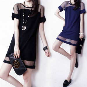 2015 Summer Elegant Women Casual Chiffon Mini Dress pictures & photos