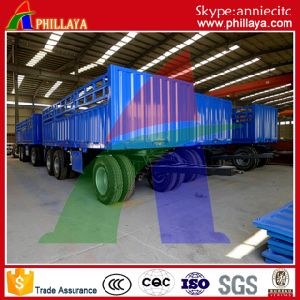Container Full Flatbed Drawbar Trailer pictures & photos