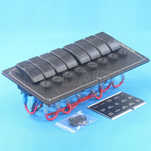 8 Way/Gang on-off Marine Boat Saplashproof Switch Panel pictures & photos