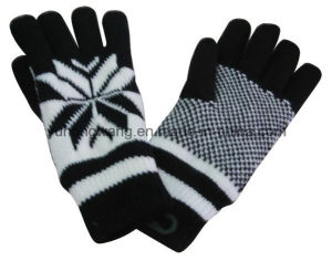 Knitted Acrylic Warm Jacquard Glove/Mitten pictures & photos