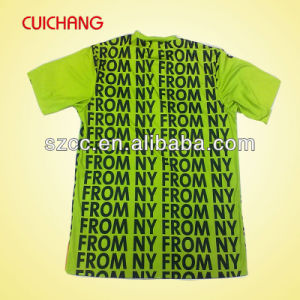 OEM 100 Polyester Black O-Neck Printed Basic T-Shirt Manufacture pictures & photos