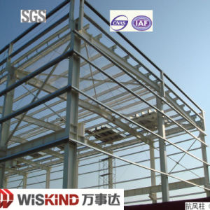 High Standard Galvanized Gable Frame Steel Workshop Building pictures & photos