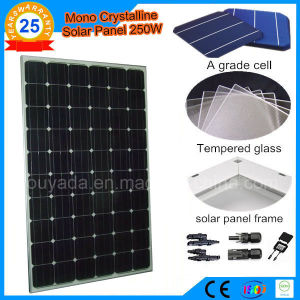 A Grade Cell 250W Monocrystalline Solar Panel pictures & photos