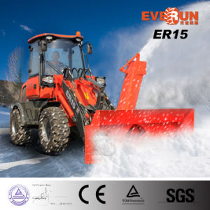 Everun Er15 Wheel Loader with Snow Blower 1600kg Capacity for Sale pictures & photos