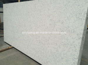 White Artificial Stone Quartz for Kitchen Countertop pictures & photos